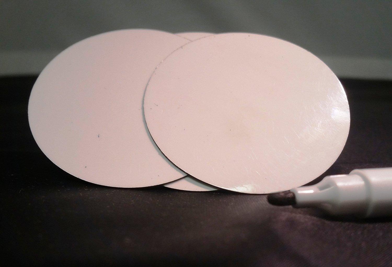 dry erase round magnetic shelf label magnets 2 u0026quot  white